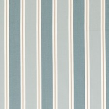 Teal Stripes Drapery and Upholstery Fabric by Clarke & Clarke