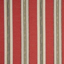 Crimson Stripes Drapery and Upholstery Fabric by Clarke & Clarke