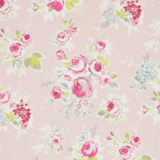 Garden Pink Drapery and Upholstery Fabric by Clarke & Clarke