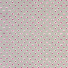 Stars Raspberry Drapery and Upholstery Fabric by Clarke & Clarke