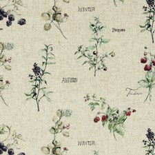 Berries Linen Drapery and Upholstery Fabric by Clarke & Clarke