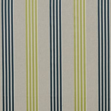 Teal/Acacia Stripes Drapery and Upholstery Fabric by Clarke & Clarke