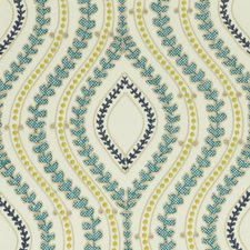Aqua/Citron Weave Drapery and Upholstery Fabric by Clarke & Clarke