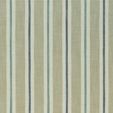 Eau De Nil/Linen Stripes Drapery and Upholstery Fabric by Clarke & Clarke