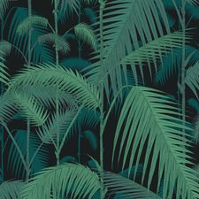 Vir/Pet On Char Botanical Drapery and Upholstery Fabric by Cole & Son