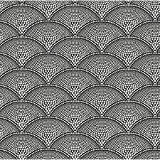Wht On Blk Geometric Drapery and Upholstery Fabric by Cole & Son