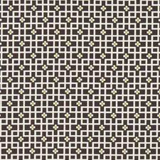 Charcoal Geometric Drapery and Upholstery Fabric by Clarke & Clarke