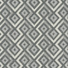 Charcoal Diamond Drapery and Upholstery Fabric by Clarke & Clarke
