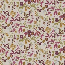 Plum Drapery and Upholstery Fabric by Clarke & Clarke