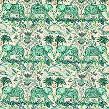 Green Animal Drapery and Upholstery Fabric by Clarke & Clarke