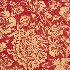 Cerise Botanical Drapery and Upholstery Fabric by Mulberry Home