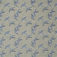 Blue Novelty Drapery and Upholstery Fabric by Mulberry Home