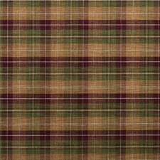 Plum/Green/Sand Check Drapery and Upholstery Fabric by Mulberry Home