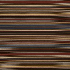 Sand/Red/Blue Stripes Drapery and Upholstery Fabric by Mulberry Home