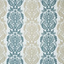 Teal/Caramel Silk Drapery and Upholstery Fabric by Mulberry Home
