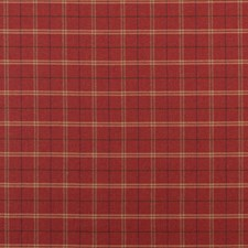 Red Plaid Drapery and Upholstery Fabric by Mulberry Home