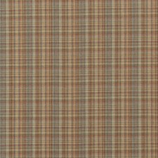 Russet Check Drapery and Upholstery Fabric by Mulberry Home