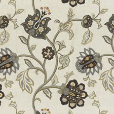 Woodsmoke Embroidery Drapery and Upholstery Fabric by Mulberry Home