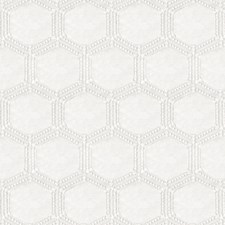 White/Off White Geometric Drapery and Upholstery Fabric by JF