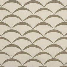 White/Taupe Contemporary Drapery and Upholstery Fabric by Groundworks