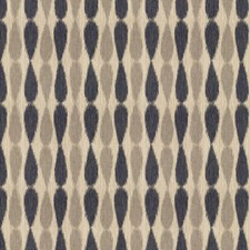 Midnight Ikat Drapery and Upholstery Fabric by Groundworks