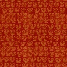 Orange Geometric Drapery and Upholstery Fabric by Groundworks