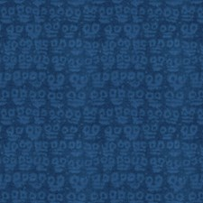 Cobalt Geometric Drapery and Upholstery Fabric by Groundworks