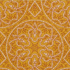 Gold Print Drapery and Upholstery Fabric by Groundworks