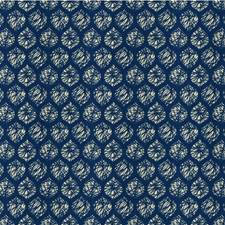 Jeans Geometric Drapery and Upholstery Fabric by Groundworks