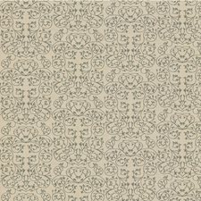 Metal Botanical Drapery and Upholstery Fabric by Groundworks