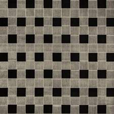 Ebony Check Drapery and Upholstery Fabric by Groundworks