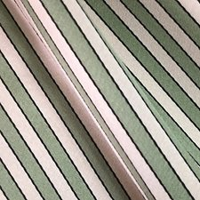 Green/Creme Drapery and Upholstery Fabric by Scalamandre