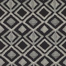 Black/linen Drapery and Upholstery Fabric by Highland Court