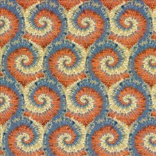 Blue Salsa Drapery and Upholstery Fabric by Kasmir