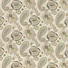 Neutral/Grey/Khaki Botanical Drapery and Upholstery Fabric by Kravet