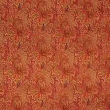 Jaipur Paisley-Coral Paisley Drapery and Upholstery Fabric by Lee Jofa