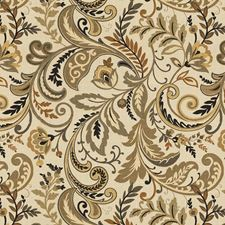 Beige/Brown/Black Jacobeans Drapery and Upholstery Fabric by Kravet