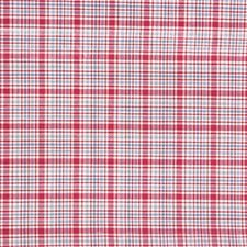 Crimson Check Drapery and Upholstery Fabric by Laura Ashley