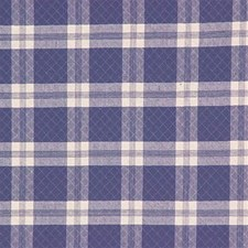 Chambray Plaid Drapery and Upholstery Fabric by Laura Ashley