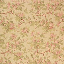 Tearose Print Drapery and Upholstery Fabric by Laura Ashley
