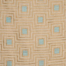 Flaxen Blue Drapery and Upholstery Fabric by RM Coco