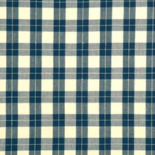 Denim Check Drapery and Upholstery Fabric by Baker Lifestyle