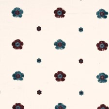 Denim Botanical Drapery and Upholstery Fabric by Baker Lifestyle