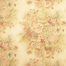 Pink/Green Print Drapery and Upholstery Fabric by Baker Lifestyle