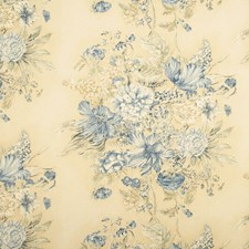 Blue/Cream Print Drapery and Upholstery Fabric by Baker Lifestyle