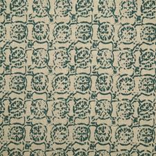 Teal Print Drapery and Upholstery Fabric by Pindler