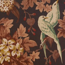 Brown/Beige/Green Print Drapery and Upholstery Fabric by Kravet