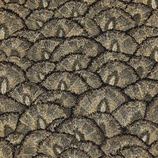 Gold/Ivory/Black Modern Drapery and Upholstery Fabric by Kravet