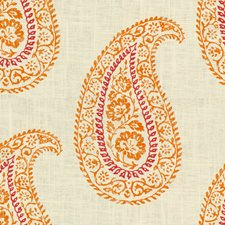 Papaya Paisley Drapery and Upholstery Fabric by Kravet