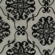 Cream/Black Drapery and Upholstery Fabric by RM Coco